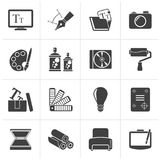 Black Graphic and website design icons. Vector icon set Stock Photo