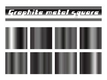 Black graphite gradient square set. Metallic texture background. Vector illustration Royalty Free Stock Photo