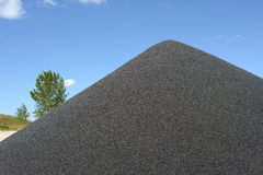 Black gravel mound. Mountain for concrete making Stock Photography