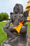 Black graven statue at Wat Pasawangboon temple Stock Images