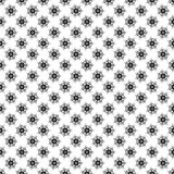 Black and Gray Abstract Floral Seamless Pattern Stock Images