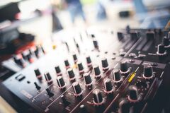 Black and Gray Audio Mixer Royalty Free Stock Photos