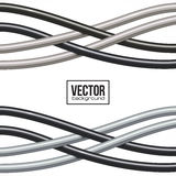 Black and gray cables vector background Royalty Free Stock Photography
