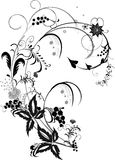 Black and gray flower decoration Stock Photos