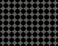 Black gray flower pattern Royalty Free Stock Image