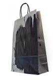 Black and gray paper shopping bag Stock Photos
