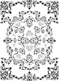 Black and gray pattern Stock Image