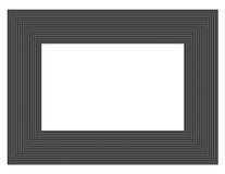 Black & gray picture frame Stock Images