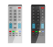Black and gray remote controls Stock Image