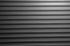 Black gray Rolling Steel Doors. royalty free stock photo