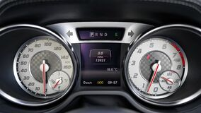 Black and Gray Speedometer at 0 Royalty Free Stock Photos