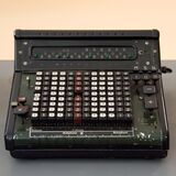 Black and Gray Vintage Cash Register Royalty Free Stock Photography
