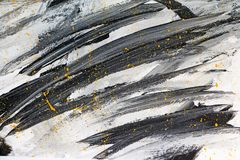 Black, gray and yellow bstract paint. Background illustation Stock Photo