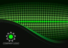 Black green abstract Royalty Free Stock Photography