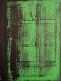 Black and Green Abstract Art Painting Royalty Free Stock Photo