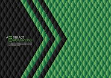 Black heart abstract background vector illustration, Green cover template layout, business flyer, Leather texture. Black and Green abstract background vector Royalty Free Stock Photo