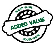 Black and green ADDED VALUE stamp. Illustration graphic concept Stock Images