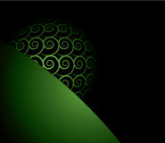 Black and green background Stock Photography