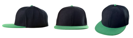 Black and green cap Royalty Free Stock Images
