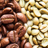 Black and green coffee Royalty Free Stock Photos