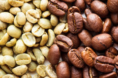 Black and green coffee Stock Image