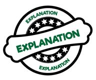 Black and green EXPLANATION stamp. Illustration graphic concept Royalty Free Stock Images