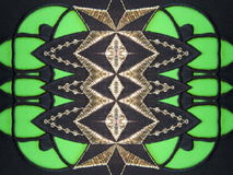Black and green fabric abstract Royalty Free Stock Photography