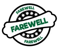 Black and green FAREWELL stamp. Illustration graphic concept Royalty Free Stock Images