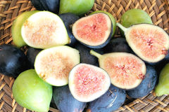 Black and green figs Royalty Free Stock Images