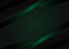 Black and green geometric abstract vector background with copy space with copy space modern design.  Stock Photography