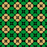 Black, green  and gold Oriental seamless background Stock Photos