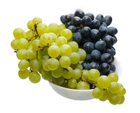 Black and green grapes Stock Photo