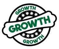 Black and green GROWTH stamp. Illustration graphic concept Royalty Free Stock Image