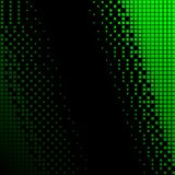 Black and Green halftone background. Stock Photography