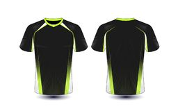 Black and green layout e-sport t-shirt design template. Illustration vector vector illustration