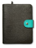 Black and green leather cover Royalty Free Stock Photo
