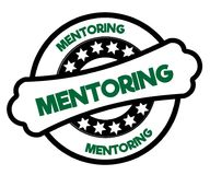Black and green MENTORING stamp. Stock Photo