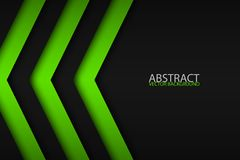 Black and green overlayed arrows, abstract modern background. Black and green overlayed arrows, abstract modern vector background with place for your text Royalty Free Stock Photo