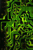 Black and green PCB. With patchs, capacitors and ICs Stock Images