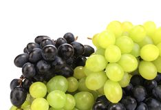 Black and green ripe grapes. Royalty Free Stock Image