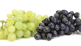 Black and green ripe grapes. Royalty Free Stock Images
