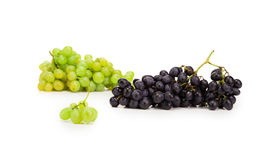 Black and green ripe grapes. Royalty Free Stock Photography
