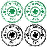 Black and green stamps for St. Patrick's Day Royalty Free Stock Images