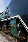 Black and green steam engine Royalty Free Stock Photography
