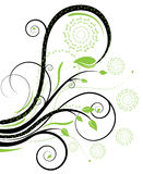 Black and green swirls Royalty Free Stock Image