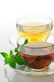 Black and green tea Royalty Free Stock Image