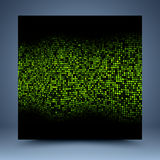 Black and green mosaic abstract background stock illustration