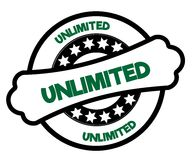Black and green UNLIMITED stamp. Illustration graphic concept Royalty Free Stock Photography