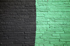 Black and green wall Stock Image