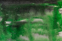 Black green watercolor abstraction Royalty Free Stock Photos